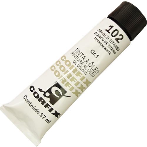 Tinta a Óleo Corfix 37ml 102 Branco Titânio G1