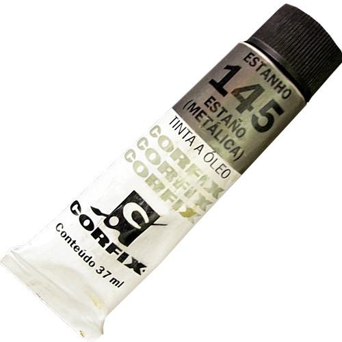 Tinta a Óleo Corfix 37ml 145 Estanho Metálico