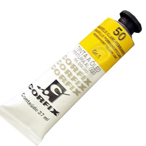 Tinta a Óleo Corfix 37ml 050 Amarelo Claro Permanente G1