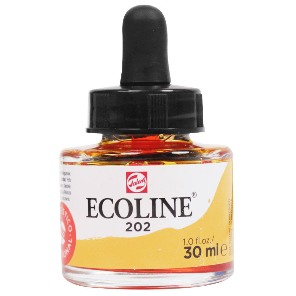 Tinta Ecoline Talens 30ml 202 Deep Yellow