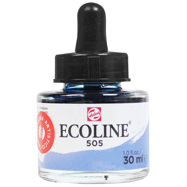 Tinta Ecoline Talens 30ml 505 Ultramarine Light