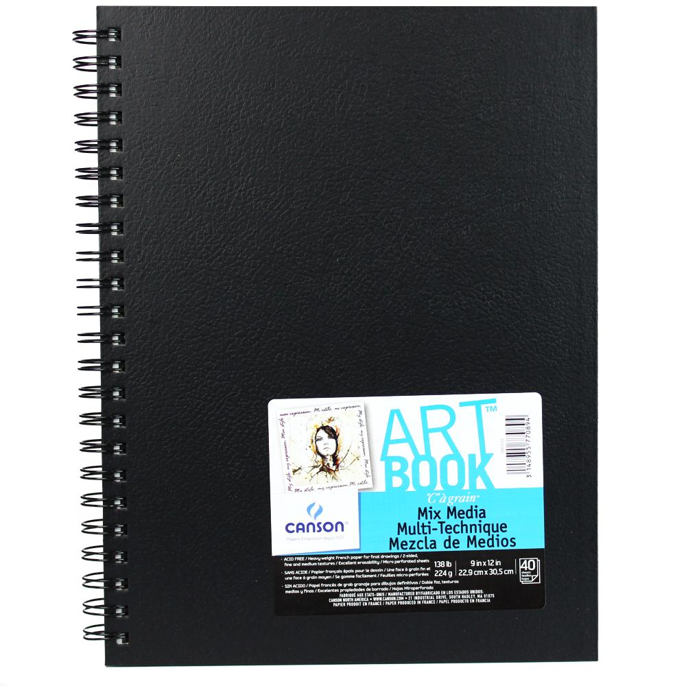 Bloco de Sketch Mix Media 22,9X30,5cm 40 folhas