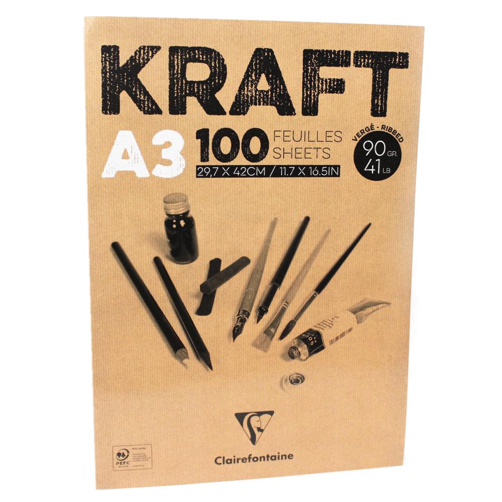 Bloco de Papel Kraft A3 100 Folhas Clairefontaine