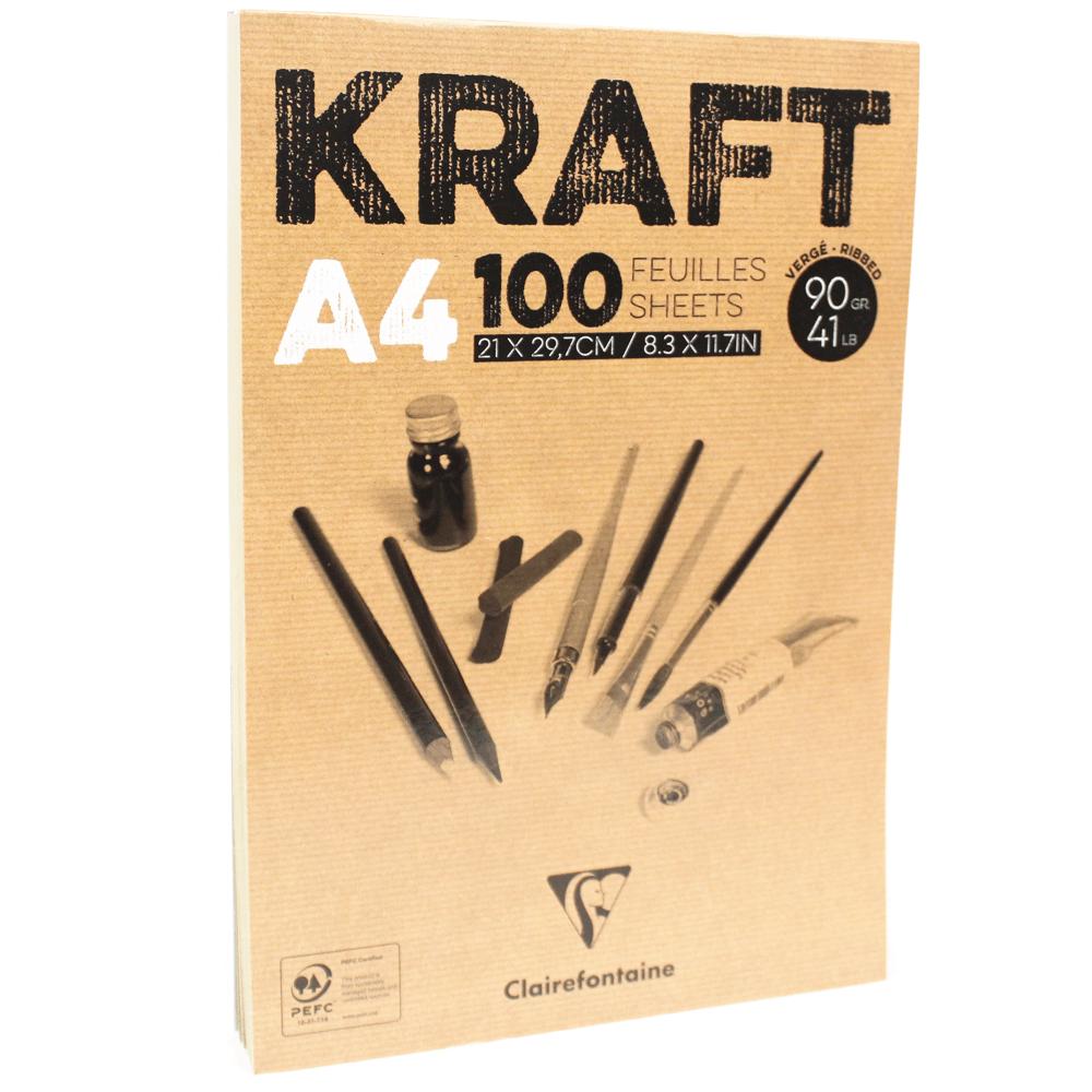Bloco de Papel Kraft A4 100 Folhas Clairefontaine