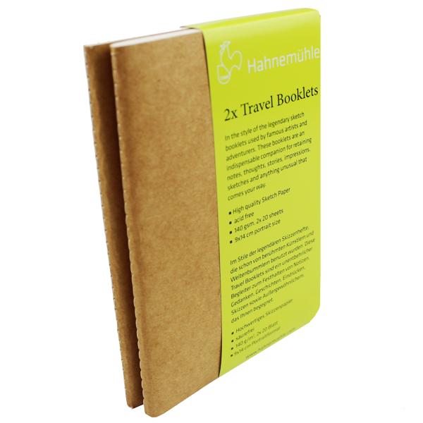 Bloco de Sketchbook 2x Travel Booklets Hahnemühle A5