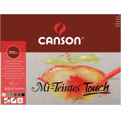 Papel Para Pastel Mi-Teintes Touch Canson A3