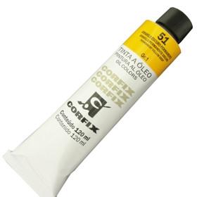 Tinta a Óleo Corfix 120ml 051 Amarelo Escuro Permanente G1
