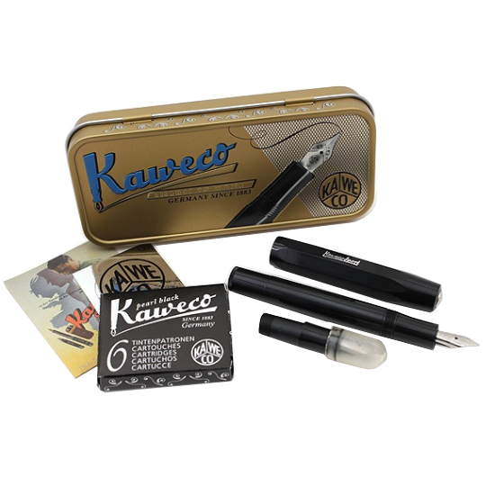 Kit de Caligrafia Kaweco Black