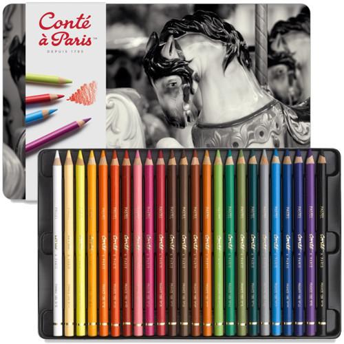 Lápis Pastel Seco Conté 24 Cores