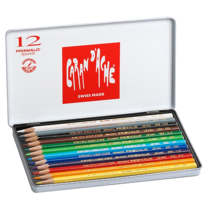 Lápis Prismalo Caran D'Ache 12 Cores