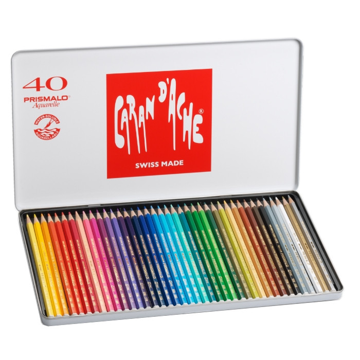 Lápis Prismalo Caran D'Ache 40 Cores