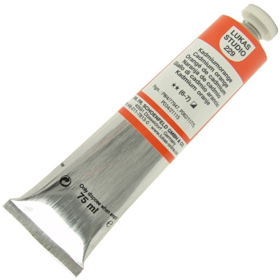 Tinta a Óleo Lukas Studio 75ml 229 Cadmium Orange