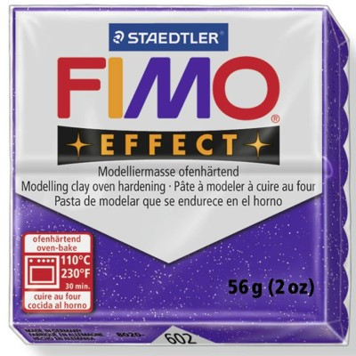 Massa Fimo 602 Lilás Glitter