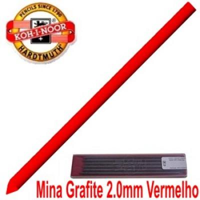 Grafite Koh-I-Noor Colorido 2.0mm Vermelho