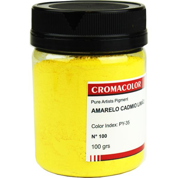Pigmento Artístico Cromacolor 100 Amarelo Cadmio Limão 100G