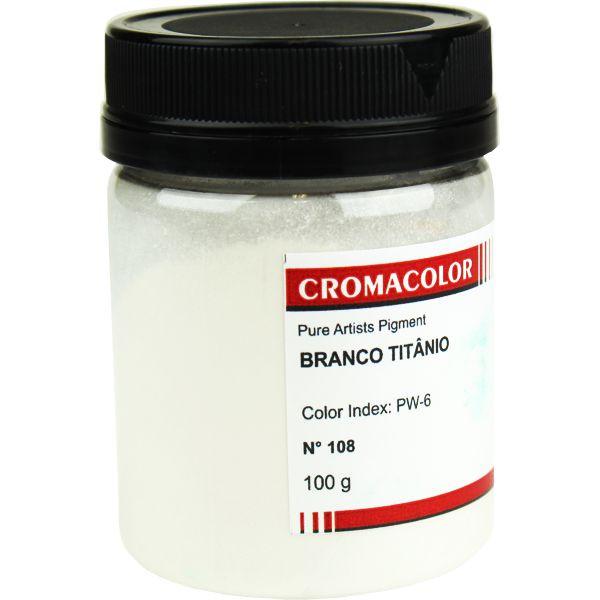 Pigmento Artístico Cromacolor 108 Branco Titânio 100G
