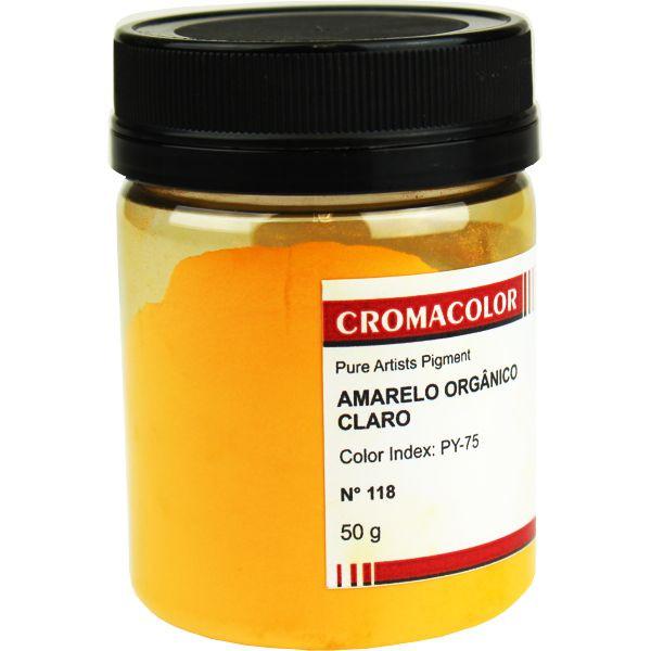 Pigmento Artístico Cromacolor 118 Amarelo Orgânico Médio 50G