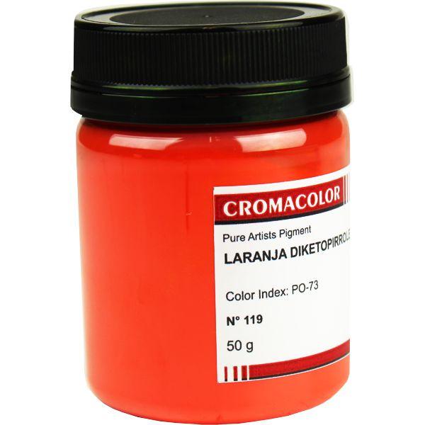 Pigmento Artístico Cromacolor 119 Laranja Diketopirrole 50G