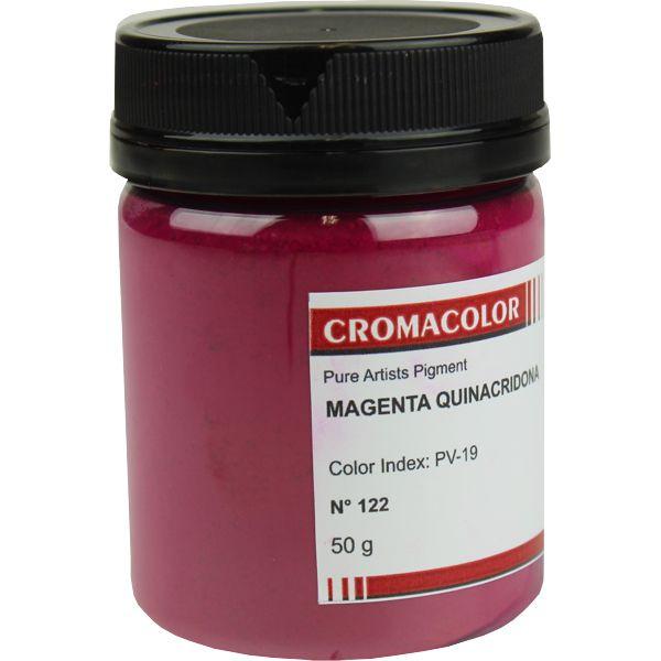 Pigmento Artístico Cromacolor 122 Magenta Quinacridona 50G