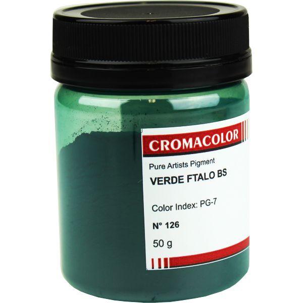Pigmento Artístico Cromacolor 126 Verde Ftalo BS 50G