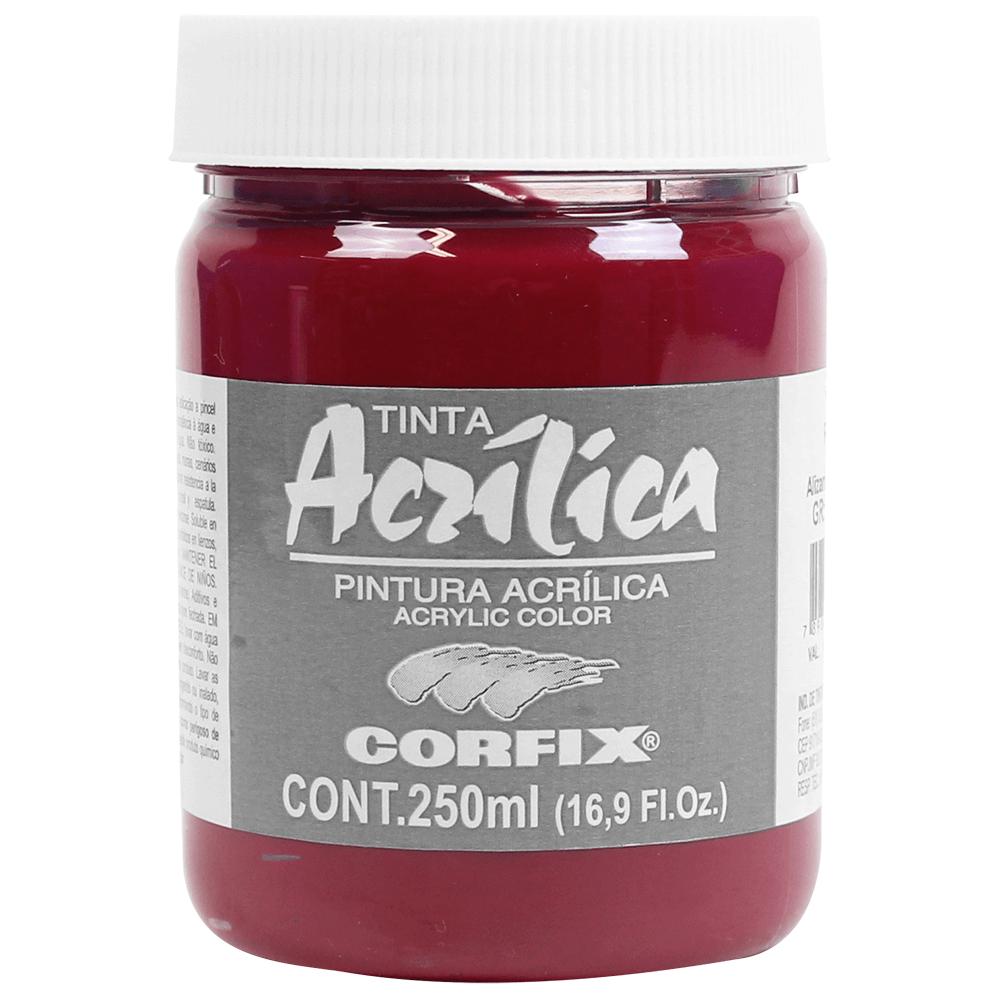 Tinta Acrílica Corfix 250ml 104 Alizarin Crimson G2