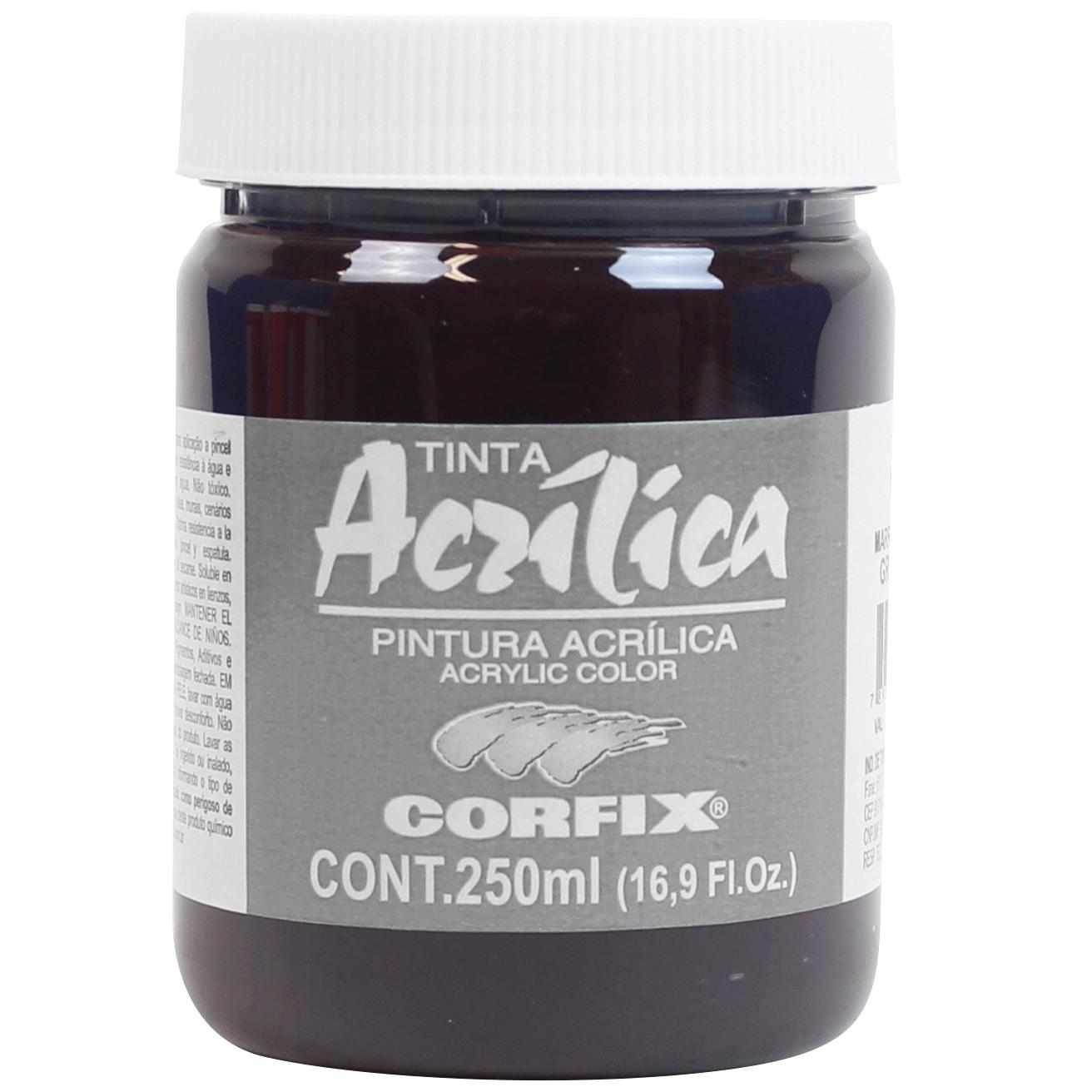 Tinta Acrílica Corfix 250ml 95 Marrom de Garança G2