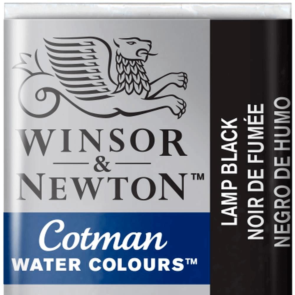 Aquarela Winsor & Newton Cotman Pastilha 337 Lamp Black