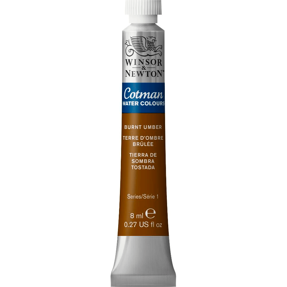Aquarela Winsor & Newton Cotman 8ml 076 Burnt Umber