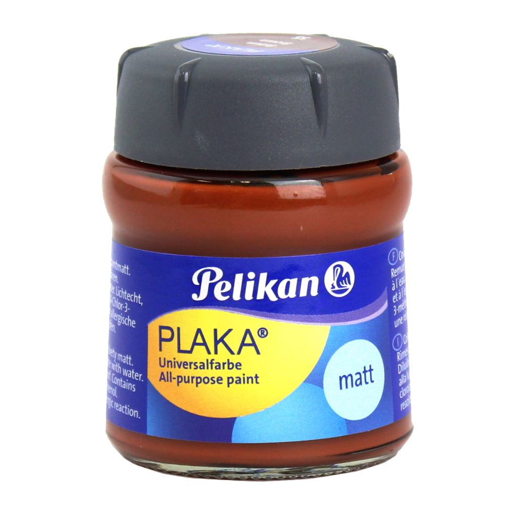 Tinta Caseína Pelikan Plaka 55 Brown 50ml
