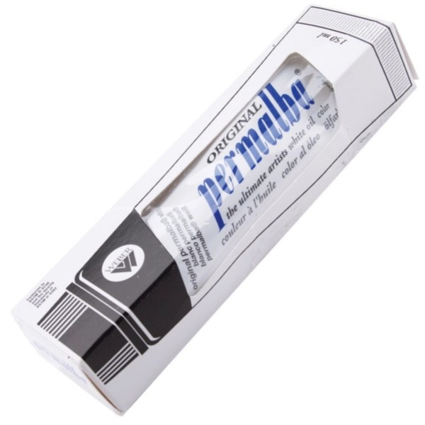Tinta Óleo Para Tela Permalba SUPER Branco 150ml