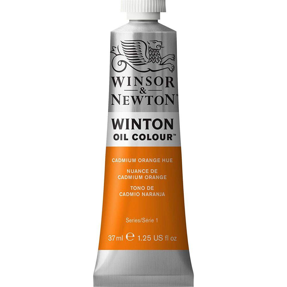 Tinta Óleo Winton 37ml Winsor & Newton 090 Cadmium Orange Hue