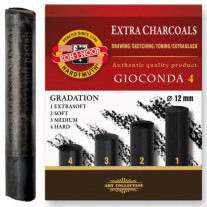 Carvão Koh-I-Noor Graduado 04 Durezas