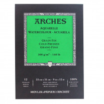 Bloco de Papel Para Aquarela Arches TF 300g/m² 23x31cm