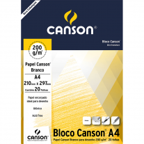 Papel Para Desenho Canson 200g/m² A4 Branco