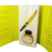 Caneta Tinteiro Pelikan Duo M205 Shiny Yellow Edição Especial