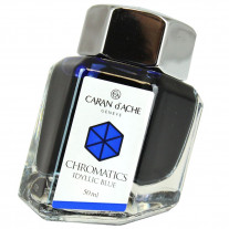 Tinta Para Caneta Tinteiro Caran d'Ache Chromatics Iddyllic Blue 50ml