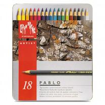 Lápis de Cor Caran d'Ache Pablo 18 Cores