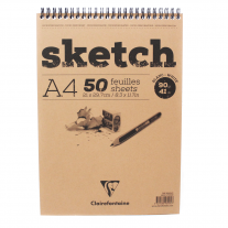 Caderno Sketchbook Clairefontaine 90g/m² A4