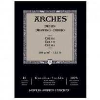 Papel Para Desenho Arches Creme 200g/m² 23x31cm