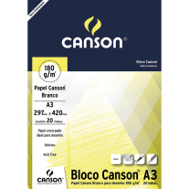 Papel Para Desenho Canson 180g/m² A3 Branco