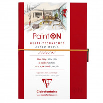 Caderno Sketchbook Multi Técnicas Clairefontaine Paint On 250g/m² A5