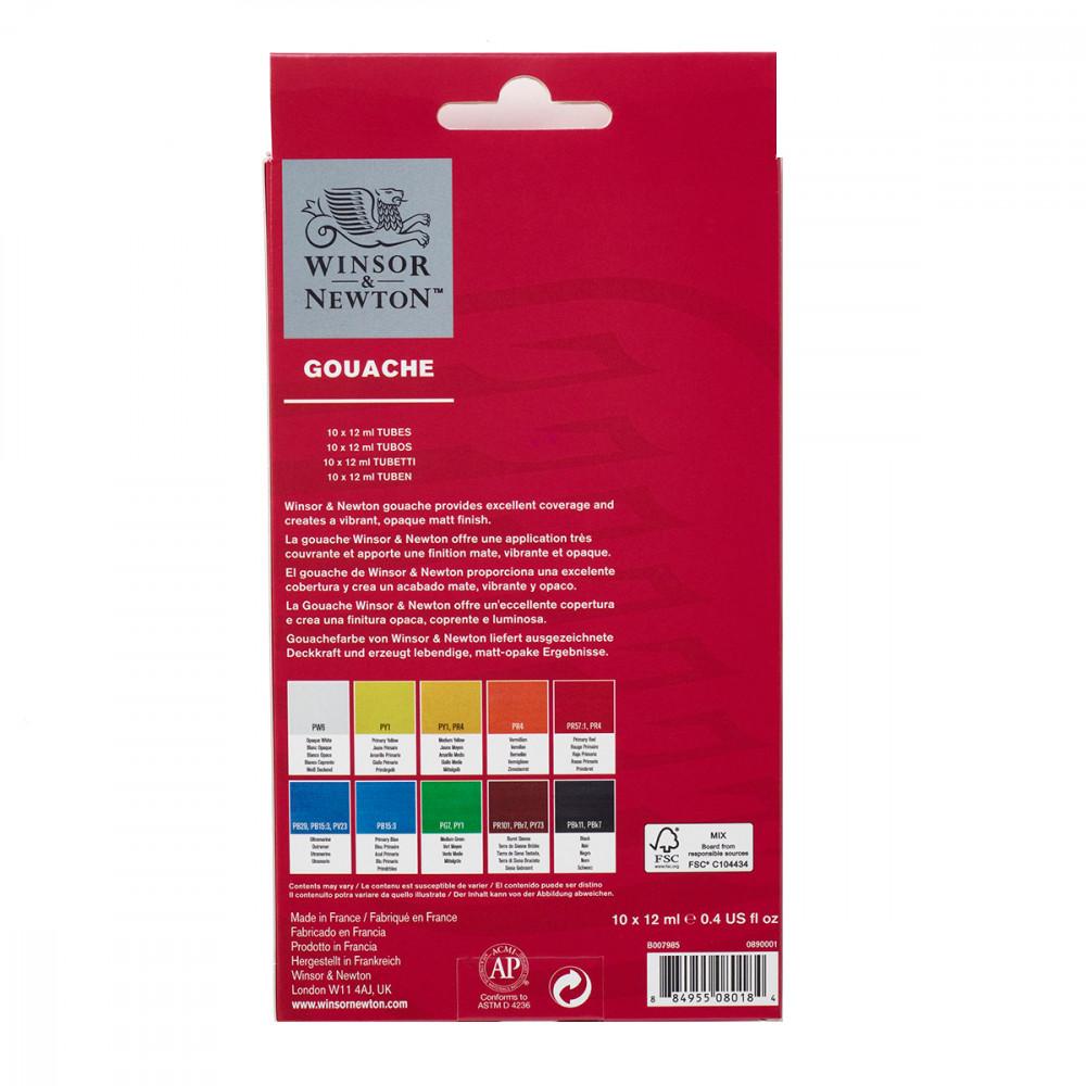Tinta Guache Winsor & Newton 10 Cores 12ML