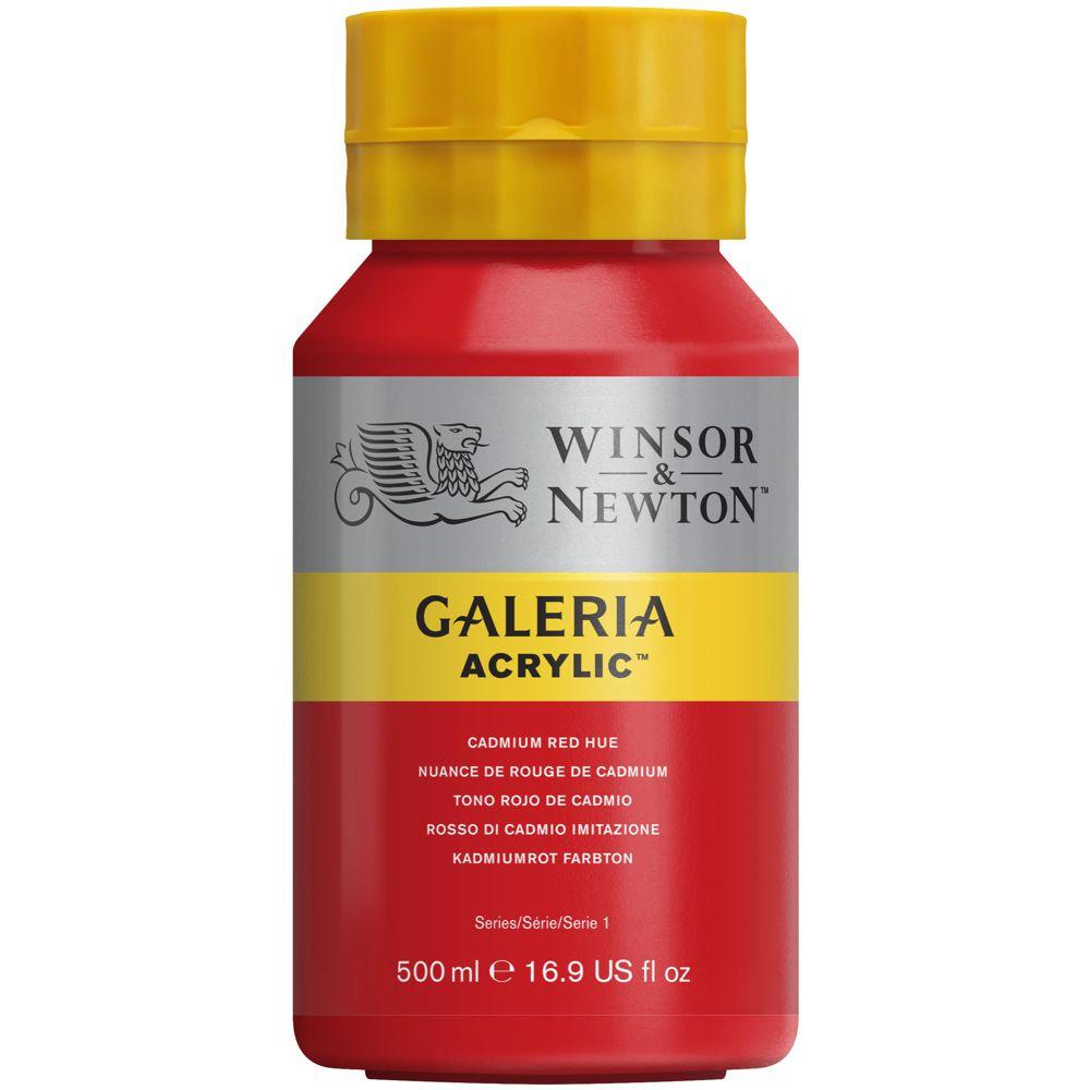 Tinta Acrílica Winsor & Newton Galeria 500ml 095 Cadminum Red Hue