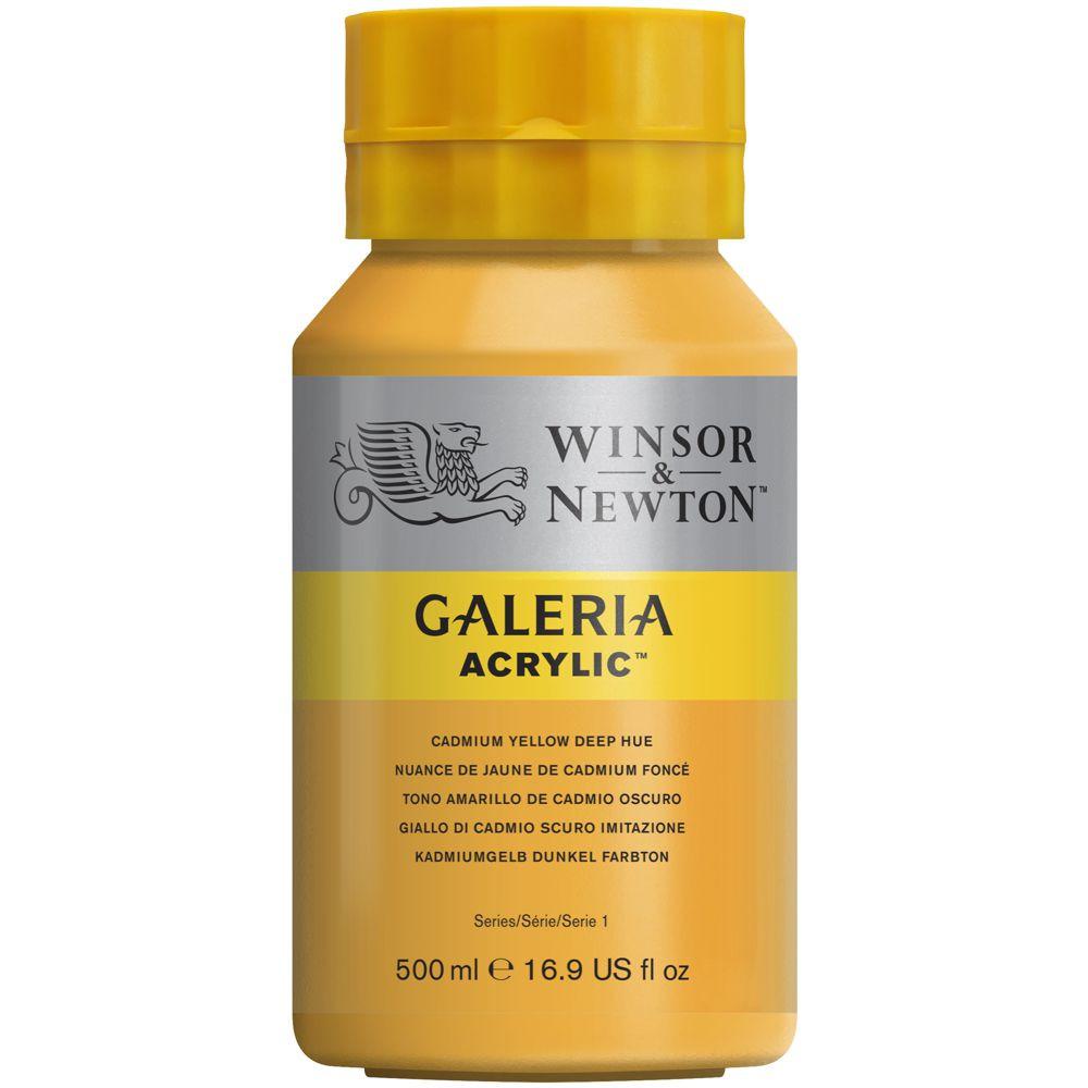 Tinta Acrílica Winsor & Newton Galeria 500ml 115 Cadminum Yellow Deep Hue