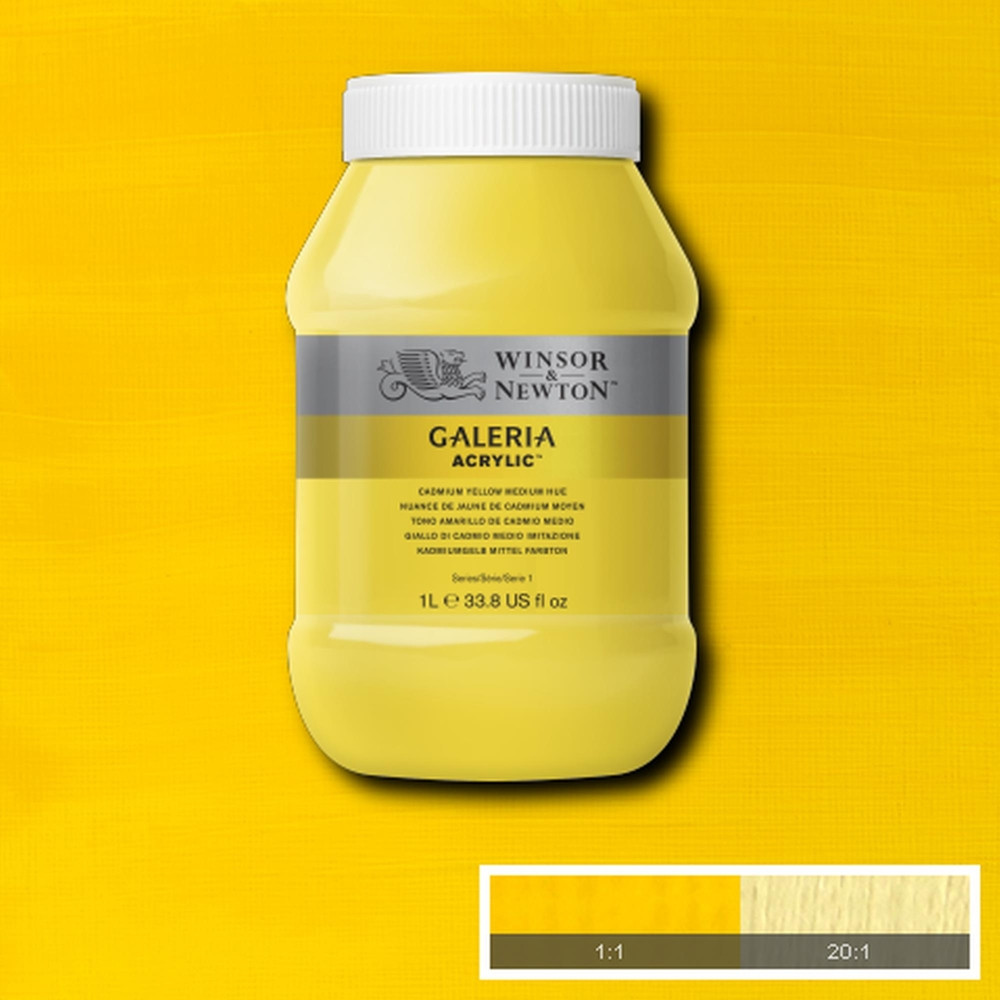 Tinta Acrílica Winsor & Newton Galeria 1Litro 120 Cadmium Yellow Medium Hue