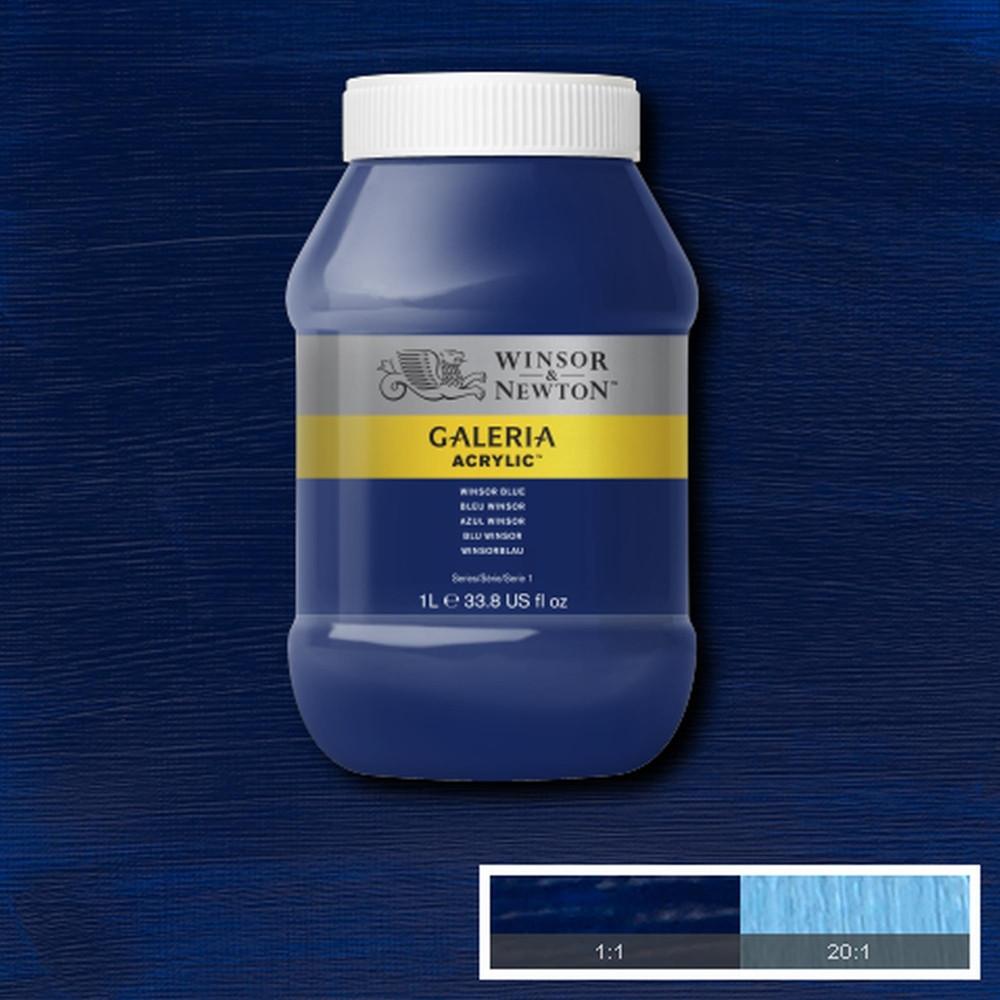 Tinta Acrílica Winsor & Newton Galeria 1Litro 706 Winsor Blue