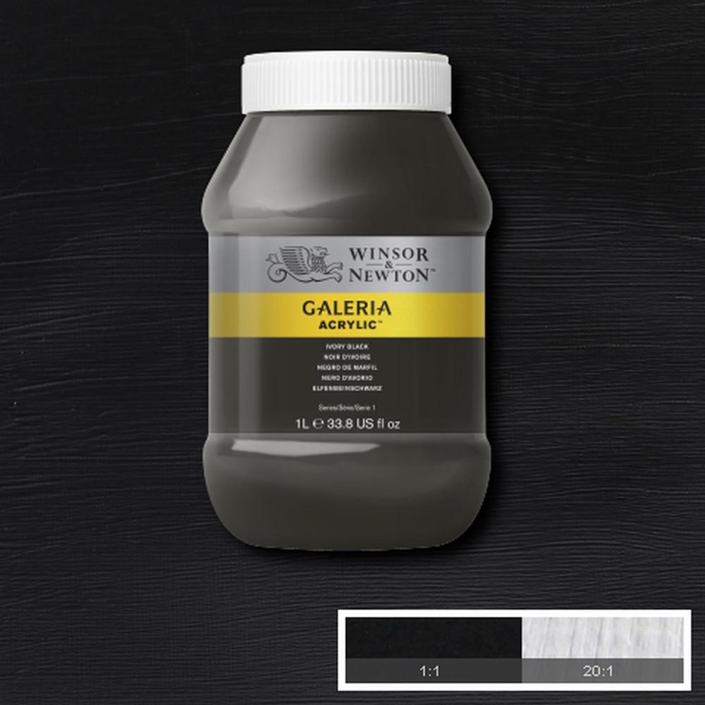 Tinta Acrílica Winsor & Newton Galeria 1Litro 331 Ivory Black