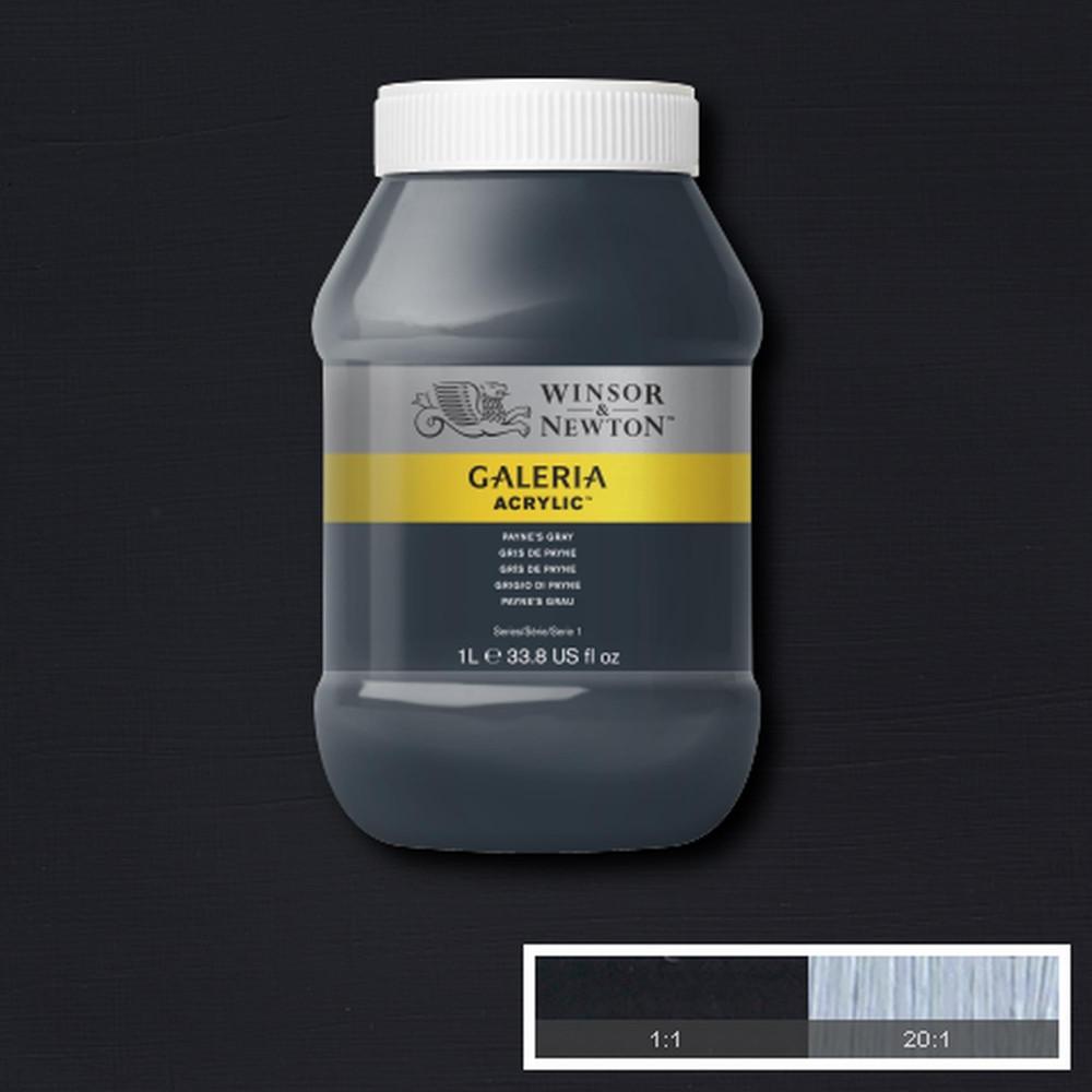 Tinta Acrílica Winsor & Newton Galeria 1Litro 465 Paynes Gray