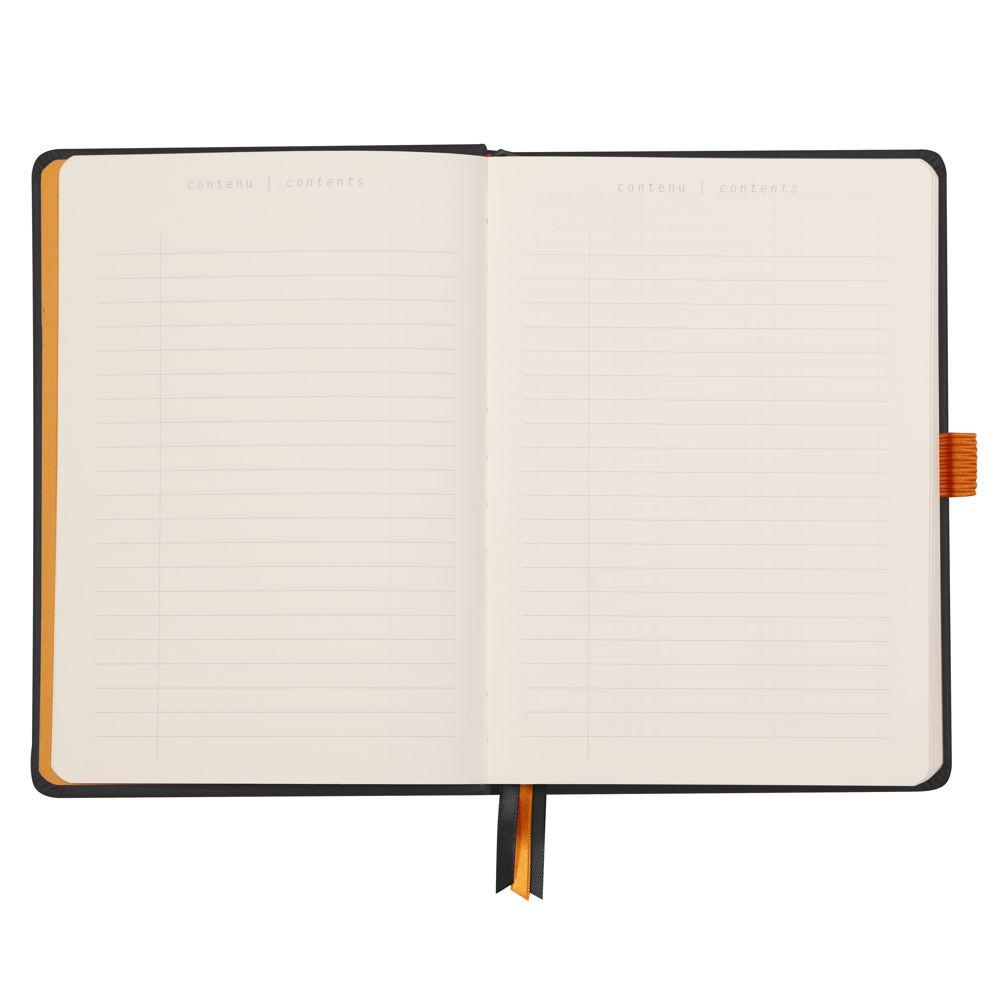 Goalbook Rhodia A5 Capa Dura Black