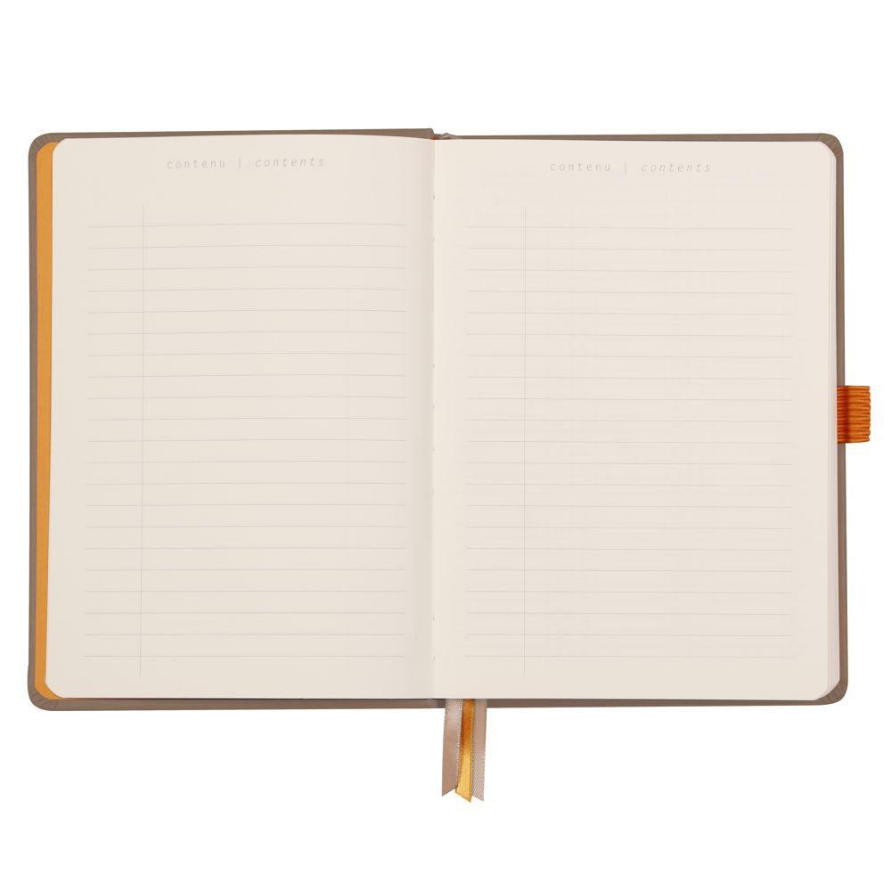 Goalbook Rhodia A5 Capa Dura Taupe